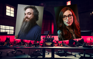 D&D Live set with Kate and Patrick faces overlaid