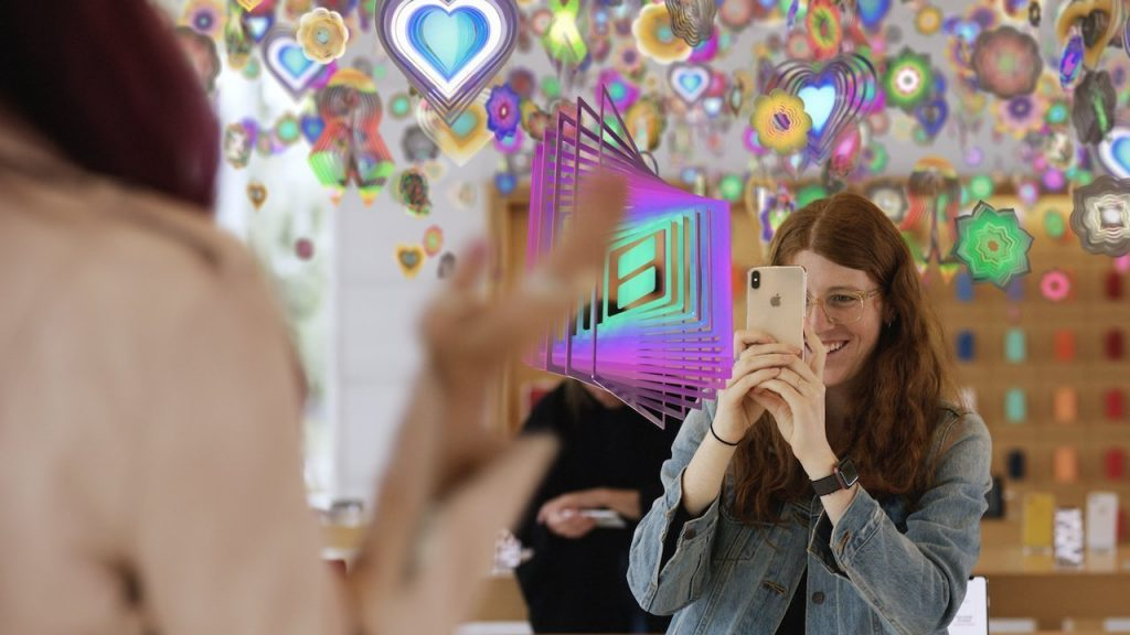 A Nick Cave AR art experience inside an Apple Store